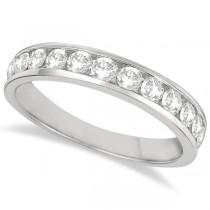 Channel-Set Diamond Anniversary Ring Band 14k White Gold (0.75ct)