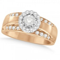 Diamond Accented Fashion Ring in 14k Two Tone Gold (0.60ct)