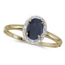 Blue Sapphire and Diamond Cocktail Ring in 14K Yellow Gold (0.95ct)