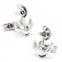 Detailed Boat Anchor Replica Cufflinks for Men in Sterling Silver