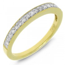 0.20ct 18k Yellow Gold Diamond Lady's Band