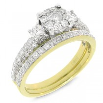 1.19ct 14k Two-tone Gold Diamond Lady's Ring 2-pc
