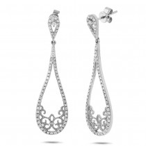 0.55ct 14k White Gold Diamond Earrings