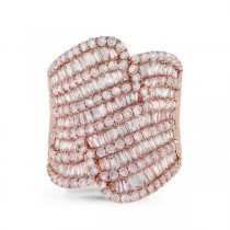 3.63ct 18k Rose Gold Diamond Lady's Ring