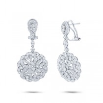 3.91ct 18k White Gold Diamond Earrings