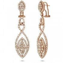 4.43ct 18k Rose Gold Diamond Earrings