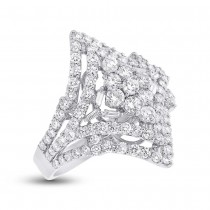 2.11ct 18k White Gold Diamond Lady's Ring