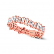 0.67ct 14k Rose Gold Diamond Baguette Lady's Band