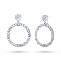 2.51ct 14k White Gold Diamond Earrings