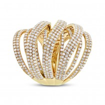 2.50ct 14k Yellow Gold Diamond Lady's Ring