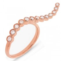 0.44ct 14k Rose Gold Diamond Lady's Ring