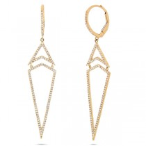 0.60ct 14k Yellow Gold Diamond Earrings