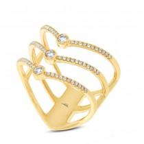 0.30ct 14k Yellow Gold Diamond Lady's Ring Size 9