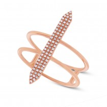 0.18ct 14k Rose Gold Diamond Lady's Ring