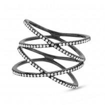 0.32ct 14k Black Rhodium Gold Diamond Lady's Ring