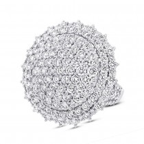 5.10ct 18k White Gold Diamond Pave Lady's Ring