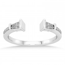 Diamond Open Shank Ring Sterling Silver (0.34 ctw)