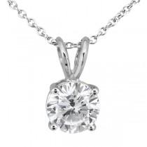 1.00ct. Round Diamond Solitaire Pendant in Platinum (H, VS2)