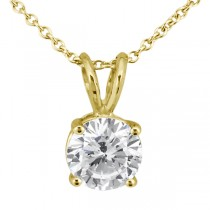1.50ct. Round Diamond Solitaire Pendant in 18k Yellow Gold (I, SI2-SI3)