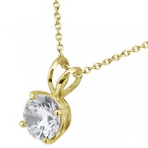 0.33ct. Round Diamond Solitaire Pendant in 18k Yellow Gold (I, SI2-SI3)