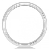 Men's Domed Wedding Ring Band in White Tungsten (6mm)
