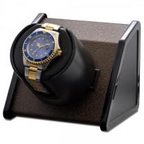 Orbita Rectangular Single Watch Winder in Brown Metal