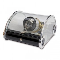 Rapport London The Time Arc Single Watch Winder w/ Crystal Glass Case