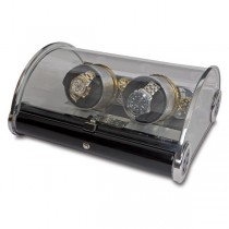 Rapport London The Time Arc Double Watch Winder w/ Crystal Glass Case