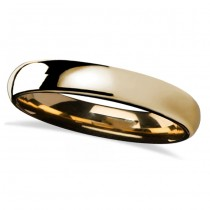 Domed Gold Tungsten Wedding Band (4mm)