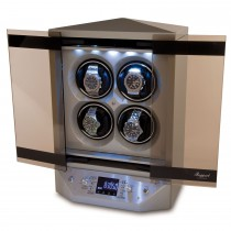 Rapport London Templar Quad Watch Winder Lacquered Silver