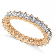 Radiant-Cut Diamond Eternity Wedding Band Ring 14k Rose Gold (2.60ct)