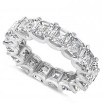 Radiant-Cut Diamond Eternity Wedding Band Ring 14k White Gold (7.20ct)