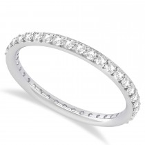 Diamond Eternity Wedding Band 14k White Gold (0.57ct)