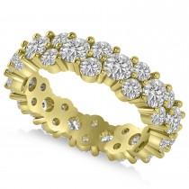 Garland Diamond Eternity Band Ring 14k Yellow Gold (3.00ct)