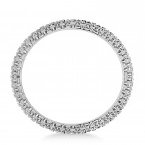 Laced Textured Men's Wedding Ring Band 14k White Gold