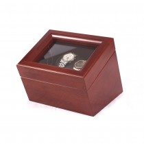 Double Mahogany Watch Winder in Solid Cherry w/ 4 Winder programs