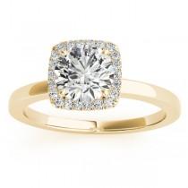 Diamond Halo Engagement Ring Setting 14k Yellow Gold (0.10ct)