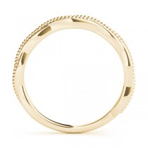 Twisted Infinity Stackable Ring Wedding Band 14k Yellow Gold