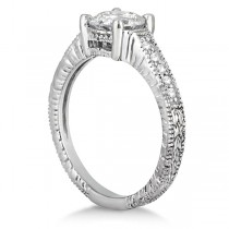 Antique Diamond Vintage Engagement Ring Setting 18k White Gold (0.70ct)