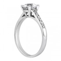 Cathedral Pave Diamond Engagement Ring Setting Palladium (0.70ct)