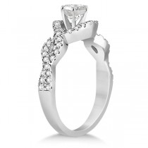 Diamond Halo Infinity Engagement Ring In 14K White Gold (1.39ct)
